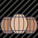 barrel, beer, farm, oak, wood