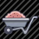 cart, farm, garden, tool, wheel