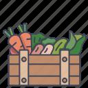 box, crate, healthy, organic, vegetable