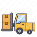 forklift, industry, machine, storage, truck