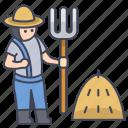 farmer, garden, gardener, male, person