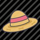 accessory, farm, hat, head, straw
