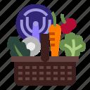 basket, food, fresh, grocery, organic icon