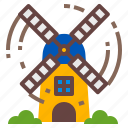 agriculture, farm, mill, rural icon