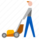 garden, grass, lawn, mower icon