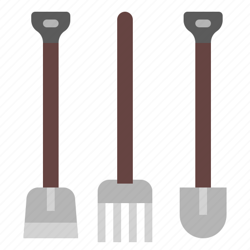 Garden, gardening, rake, tool icon - Download on Iconfinder
