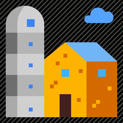 Farm, farming, silo, tank, wheat icon - Download on Iconfinder