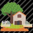 farm, farm field, farm illustration, farm landscape, farmhouse, farmland, farmyard