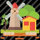 countryside, farm, farm field, farm illustration, farm scene, farmhouse, farmyard