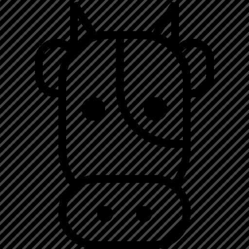animal, animals, cow, emoticon, face, milk, smiley icon