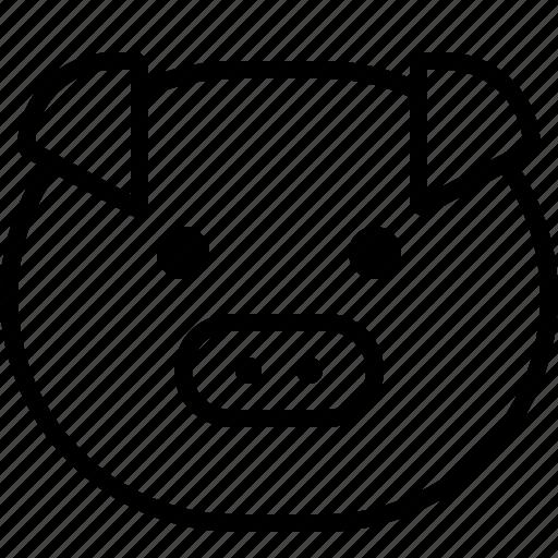 animal, money, pig, piggy, save, smiley icon