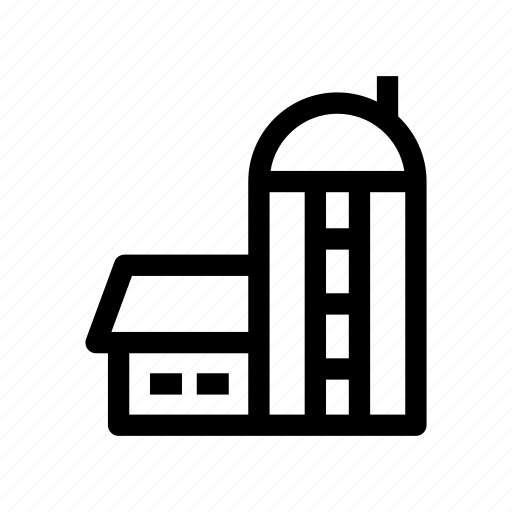 barn, farm, grain, grain silo, storage icon