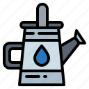 can, gardening, tools, utensils, watering icon