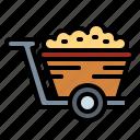 cart, garden, trolley, wheelbarrow