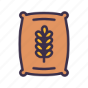 agriculture, bag, farm, farming, gardening, wheat icon