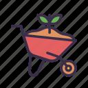 agriculture, barrow, farm, gardening, tool, wheel