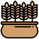 barley, crop, grain, rye, wheat icon