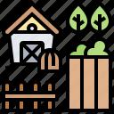 barn, cottage, farm, house, rural icon