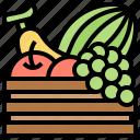 banana, fruit, grape, healthy, vitamin icon