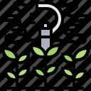 farm, irrigation, plants, sprinklers, water icon