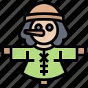 farming, field, mannequin, pest, scarecrow icon