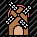energy, farmhouse, rural, tower, windmill icon