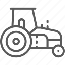 agricultural, agrimotor, farming, heavy, machinery, tractor, vehicle icon