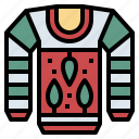 clothing, garment, sweater, winter icon