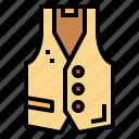 clothing, elegant, fashion, suit, vest icon