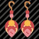 accessory, earrings, elegant, jewelry icon