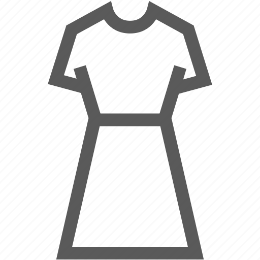 clothes, cocktail dress, dress, female, girl, woman icon