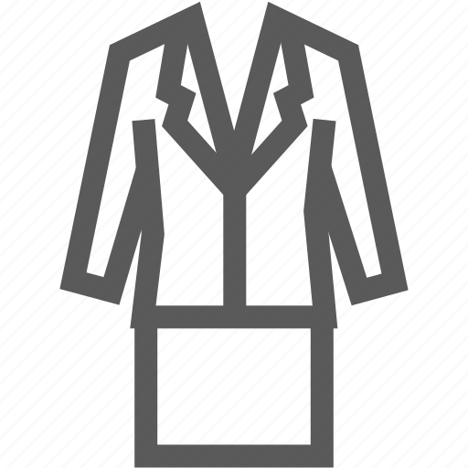 business, clothes, formal wear, jacket, office, skirt, suit icon
