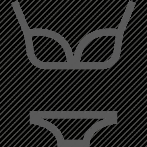 bra, clothes, clothing, female, underwear, woman icon