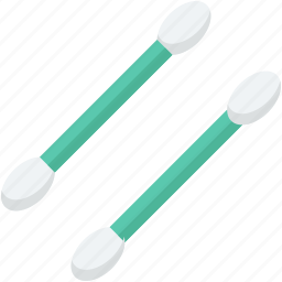 cotton balls, cotton buds, cotton swabs, healthcare, personal care icon
