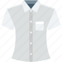 formal shirt, garments, shirt, summer wear, t shirt icon