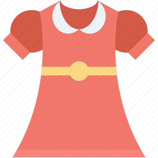 frock, girl clothing, party dress, prom dress, sundress icon