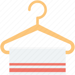 bathing, cloth hanger, hanger, towel, wiping towel icon