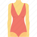 bikini, bodysuit, swimsuit, swimwear, undergarments icon