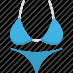 bikini, bra, panty, swimsuit, swimwear icon