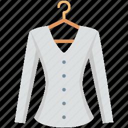 blazer, blouse, camisole, shirt top, women dress icon