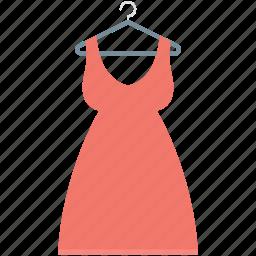 frock, hanger, party dress, prom swing dress, sundress icon