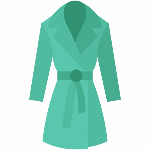 evening gown, gown, nightgown, overcoat, trench coat icon