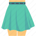 clothes, garments, mini skirt, skirt, woman clothing icon