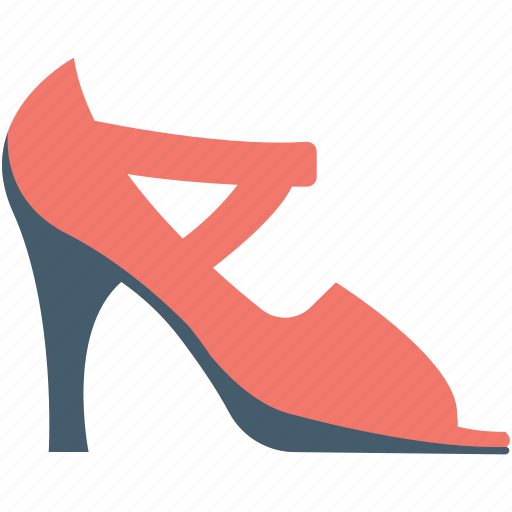 fashion, heel sandal, high heel, ladies sandal, party shoes icon