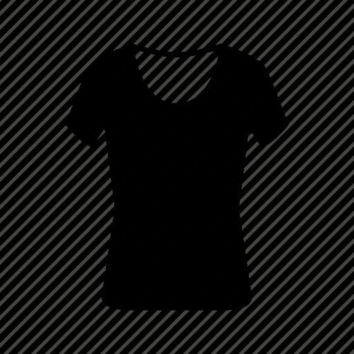 basic, clothes, neck, plain, round, tshirt icon