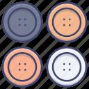 button, clothing, suit, trims icon