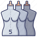 fashion, mannequin, sewing, tailors icon