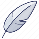 feather, light, quill, material icon