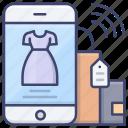 clothes, fashion, mobile, shopping icon