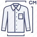 clothes, length, measure, scale icon